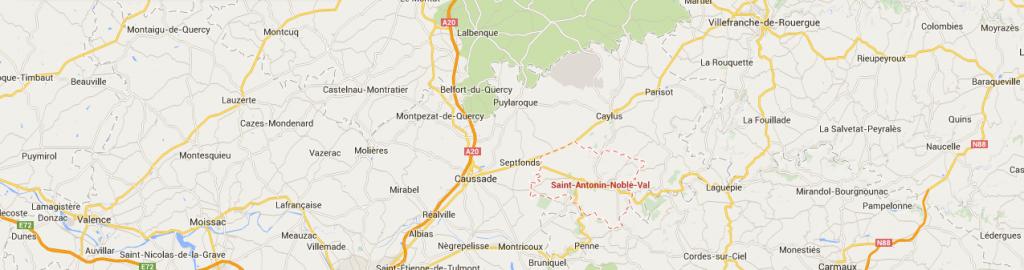 Saint Antonin Noble Val   GoogleMaps